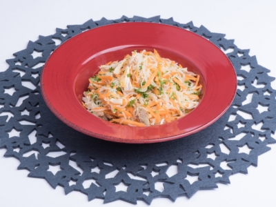 Carrot vermicelli salad
