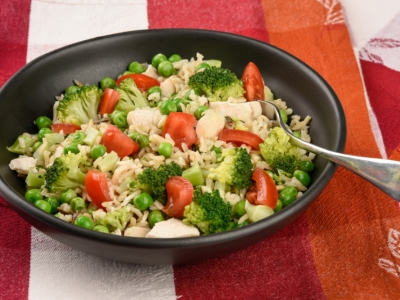 Pea and rice salad