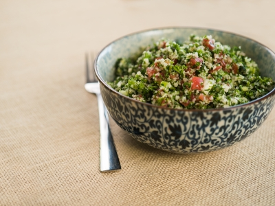 Tabbouleh salad with cauliflower 'couscous'