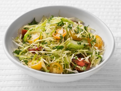 Green slaw with celery and tomatoes