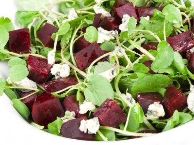 Beetroot and watercress salad