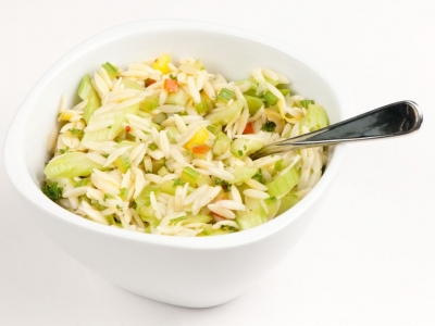 Celery and orzo salad