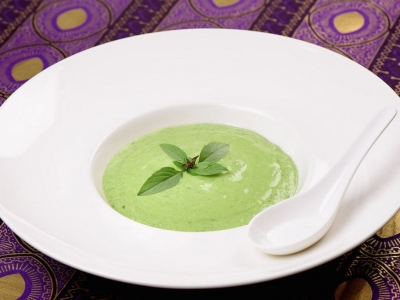 Chilled silverbeet soup