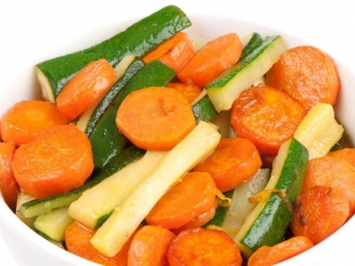 Citrus carrots and courgettes