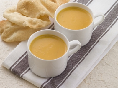Coconut and curry pumpkin soup