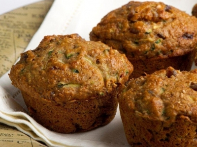 Courgette and sultana muffins