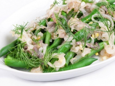Green beans with dill and shallots