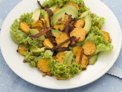 Kumara and bacon salad