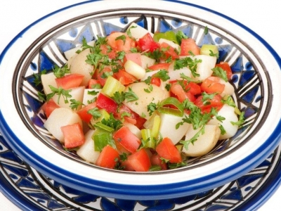 Potato and tomato salsa
