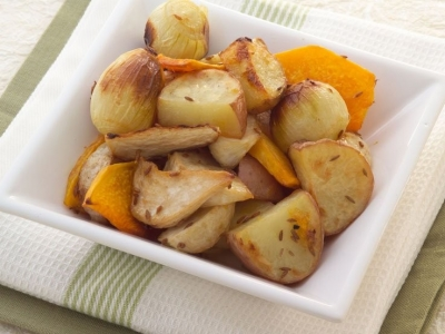 Pumpkin and turnips with cumin
