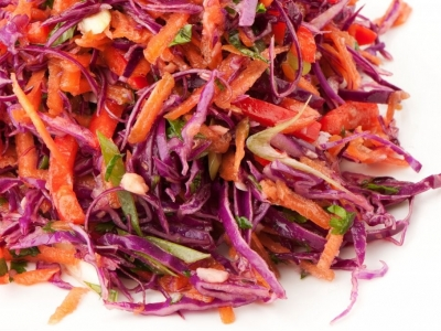 Red coleslaw with Asian-style vinaigrette