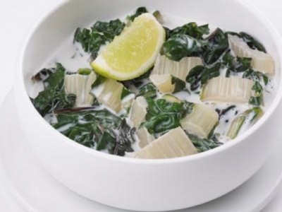 Silverbeet in coconut milk