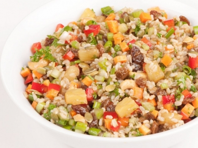 Vegetables and rice salad