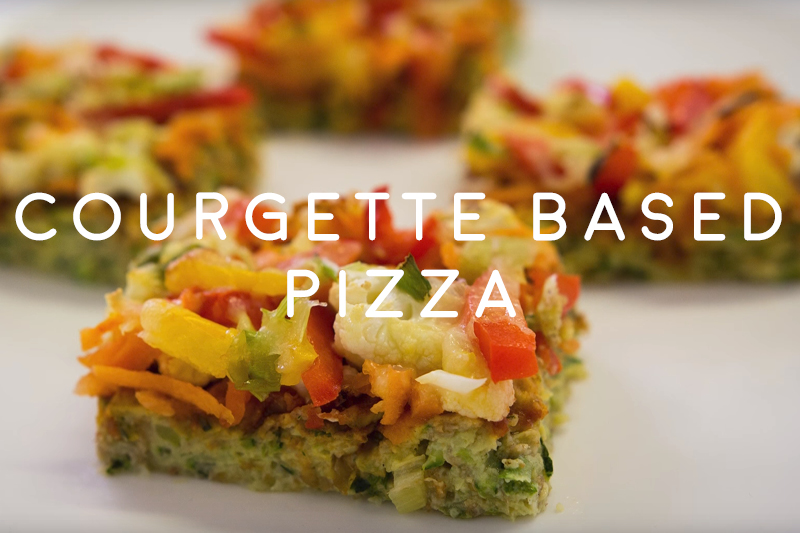 Courgette Based Pizza