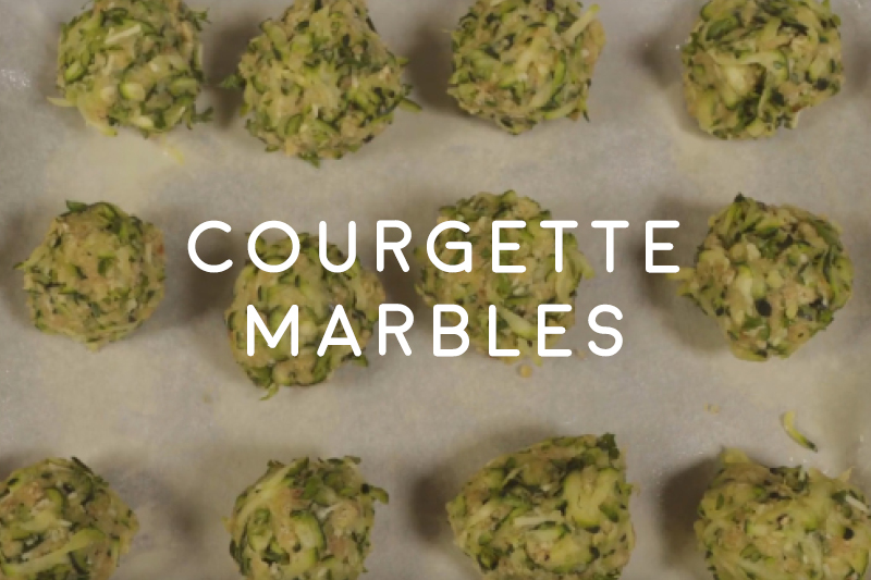 Courgette marbles