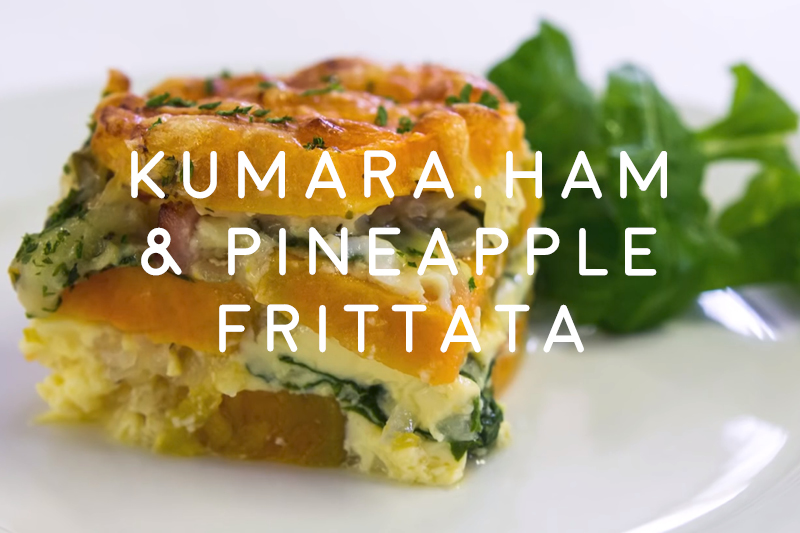 Kumara Ham and Pineapple Frittata