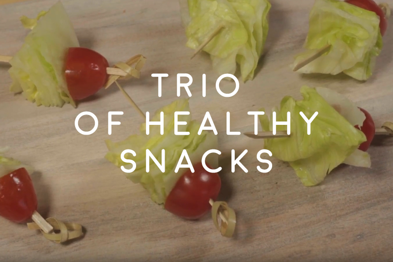 Trio of healthy snacks