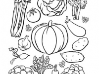 A4 VEG COLOURING CHILD print 1