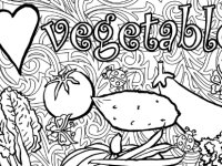 Vege Colouring for Adults Cover