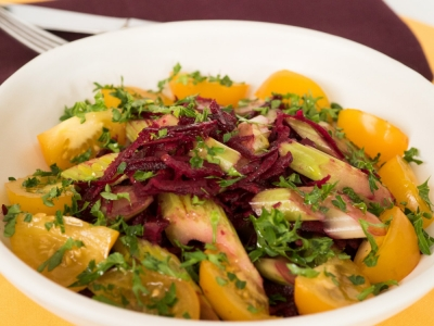 Beetroot and celery salad