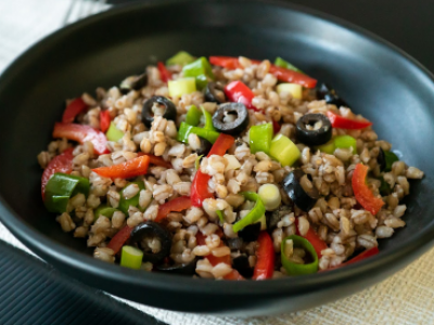Capsicum and barley salad
