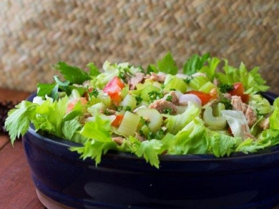 Celery Lettuce And Tuna Salad Vegetables