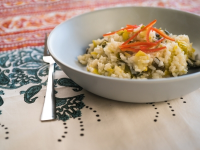 Leek and lemon risotto
