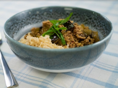 Mapo eggplant with pork