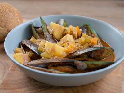 Mussel and kūmara stew