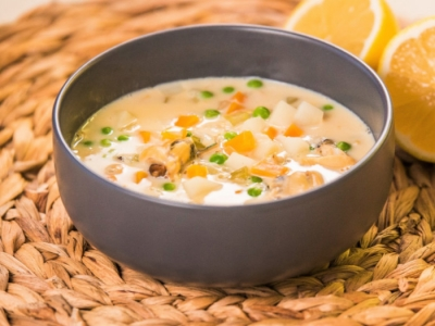 Mussel and vegetable chowder