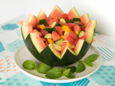 Salad in a watermelon