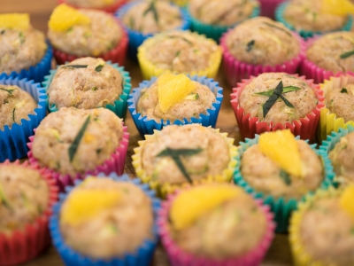 Zesty courgette and cinnamon muffins