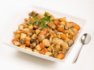 Baked vegetables with cumin