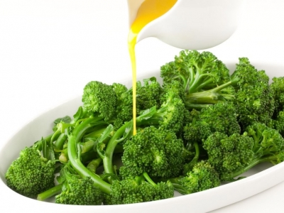 Broccolini with orange, ginger and mustard dressing