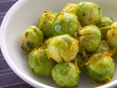 Brussels sprouts with orange sauce