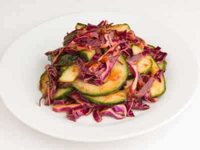 Cabbage and cucumber slaw
