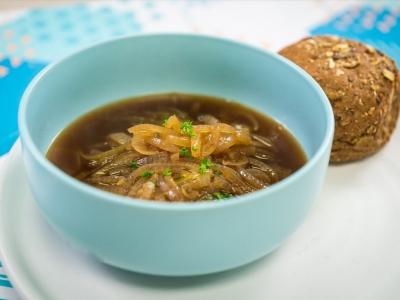Caramelised onion soup