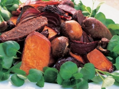 Caramelised roast vegetable salad
