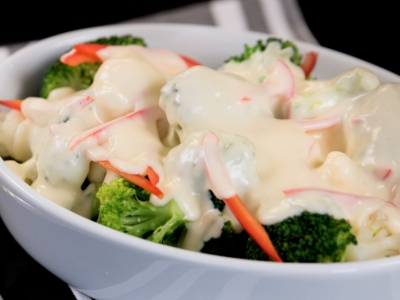 Cheese sauce to serve with steamed vegetables