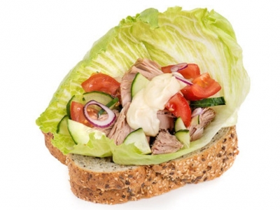 Deconstructed tuna salad sandwich