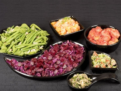 Diced vegetable salad