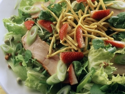 Fruity watercress and chicken salad