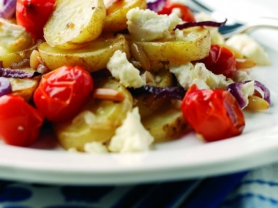 Potato and feta bake