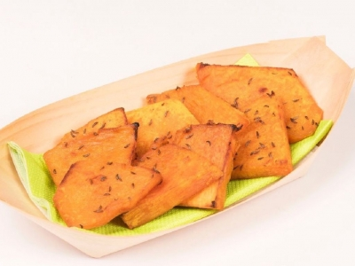 Pumpkin slices with cumin