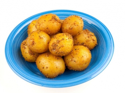 Roast potatoes with Indian spices