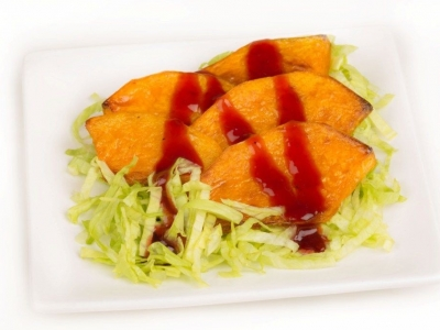 Roast pumpkin on iceberg