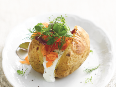 Salmon jacket potatoes