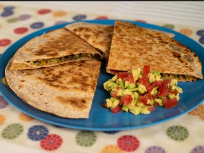 Quick toastie quesadillas