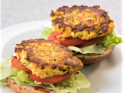 Vegetable and bean burgers