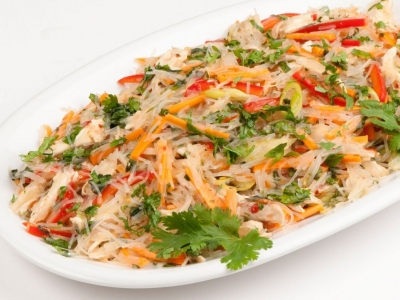 Vegetable and lime noodle salad
